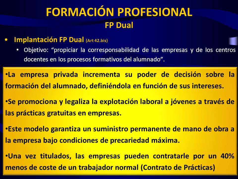 FORMACIÓN PROFESIONAL FP Dual