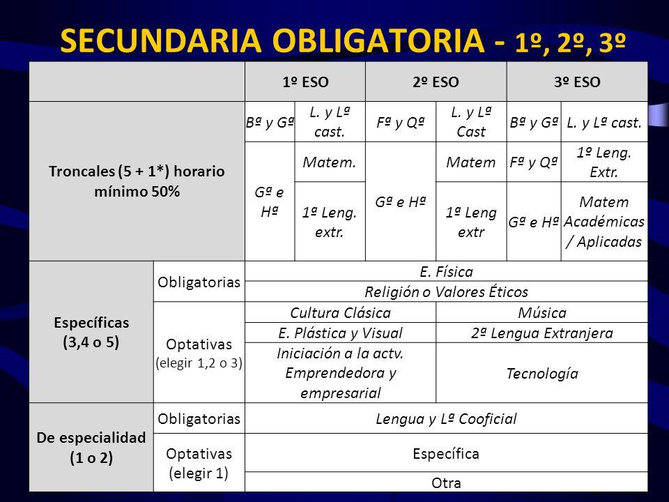 SECUNDARIA OBLIGATORIA - 1º, 2º, 3º