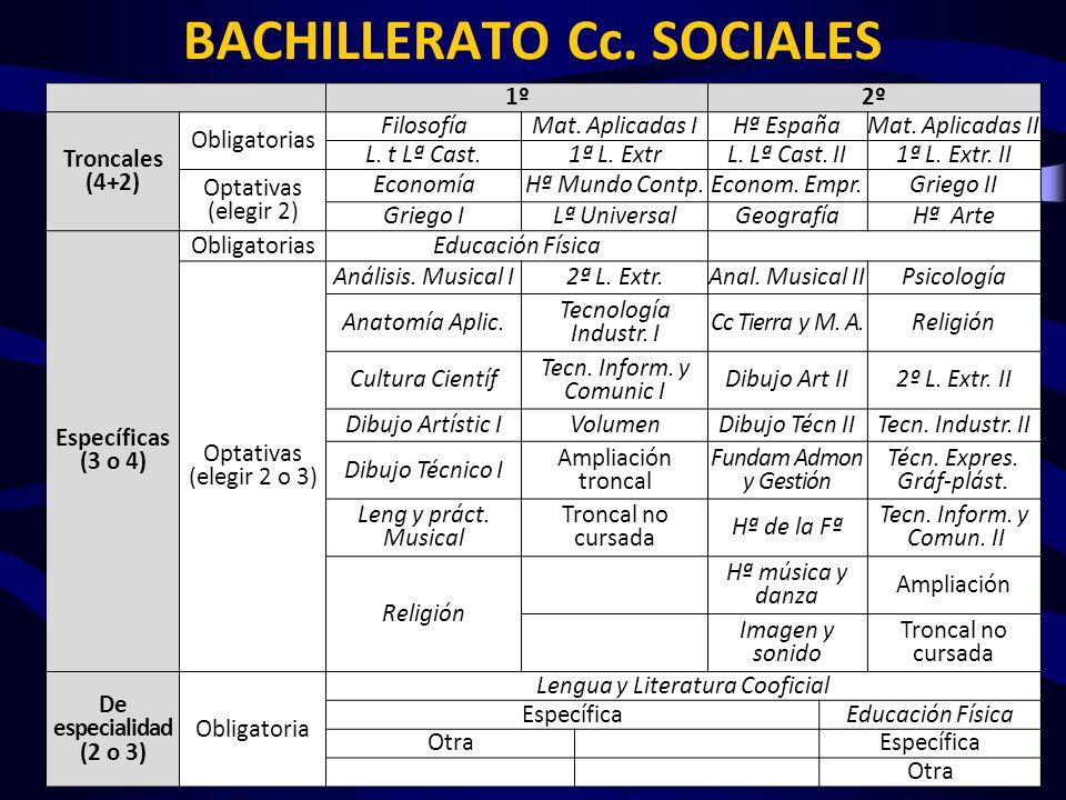 BACHILLERATO Cc. SOCIALES