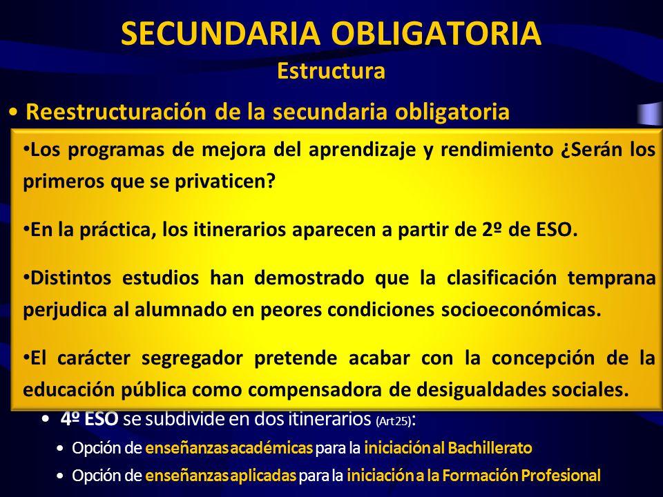 SECUNDARIA OBLIGATORIA Estructura