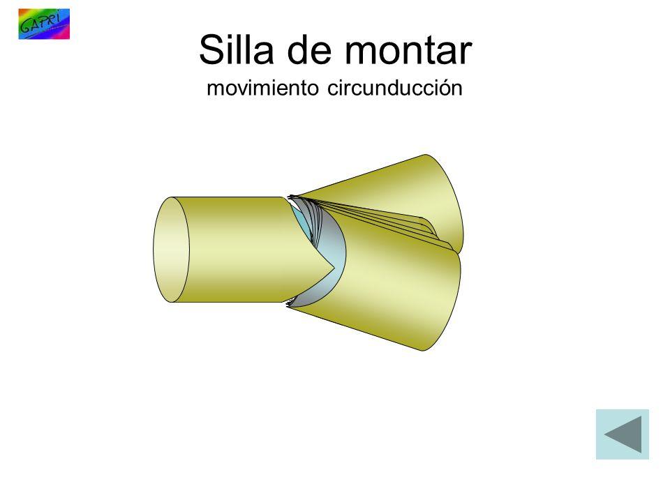 Silla de montar movimiento circunducción