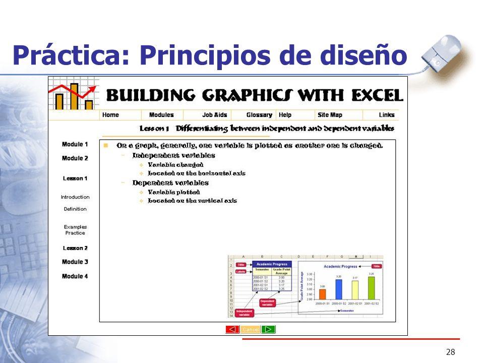Práctica: Principios de diseño