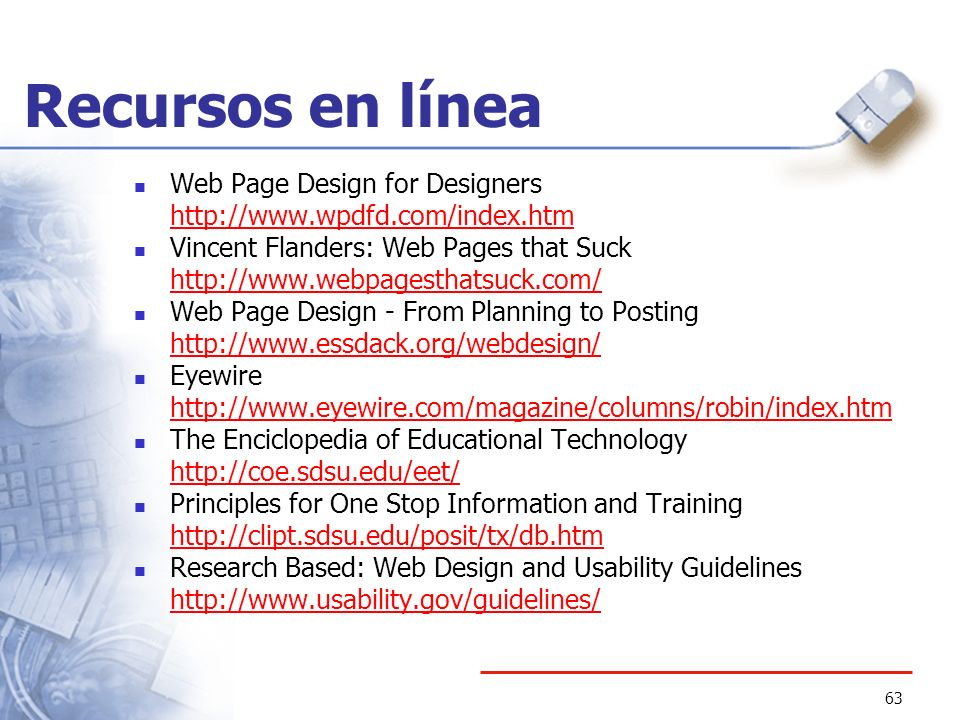 Recursos en línea Web Page Design for Designers