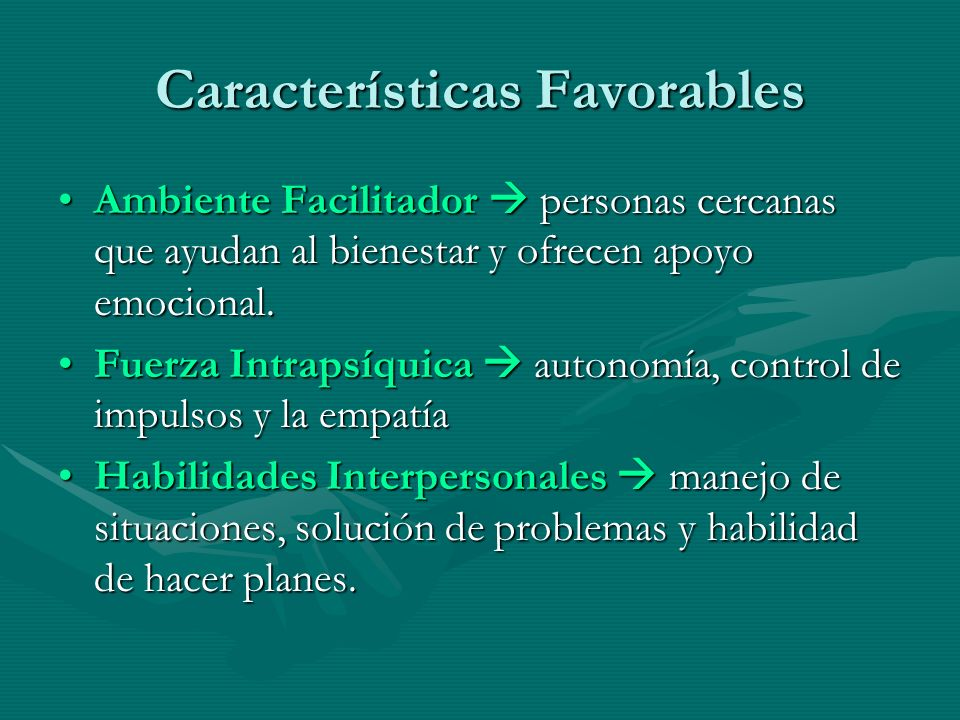 Características Favorables