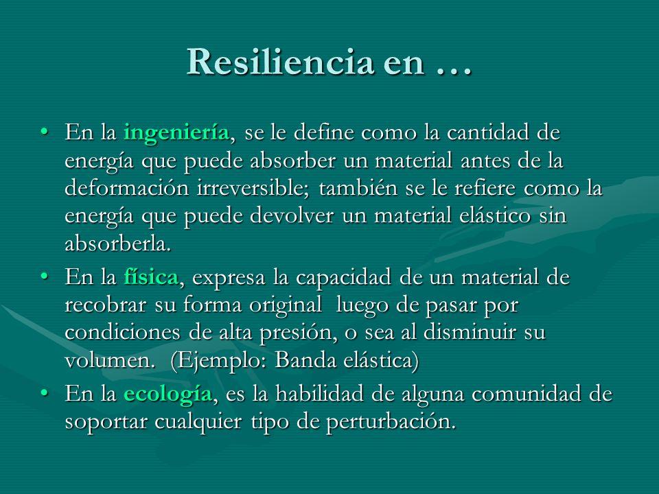 Resiliencia en …