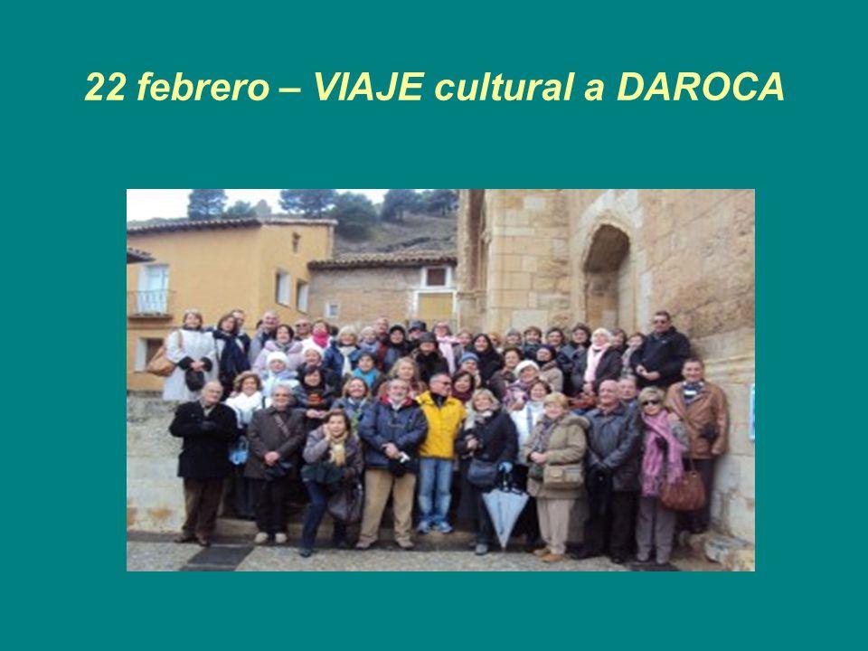 22 febrero – VIAJE cultural a DAROCA