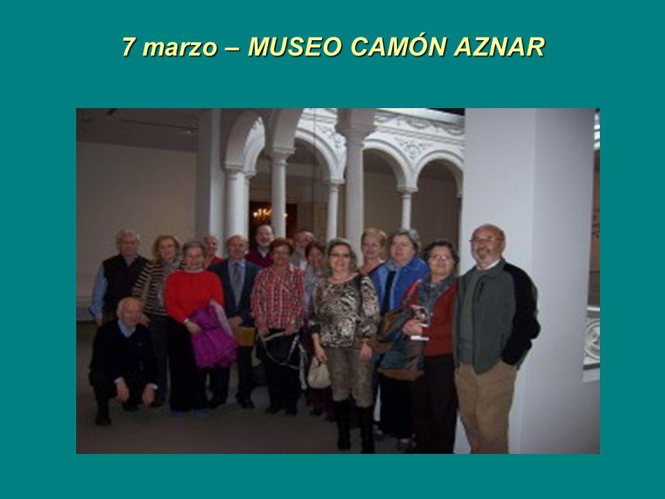 7 marzo – MUSEO CAMÓN AZNAR