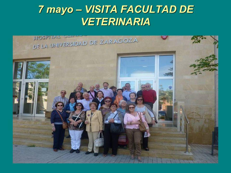 7 mayo – VISITA FACULTAD DE VETERINARIA