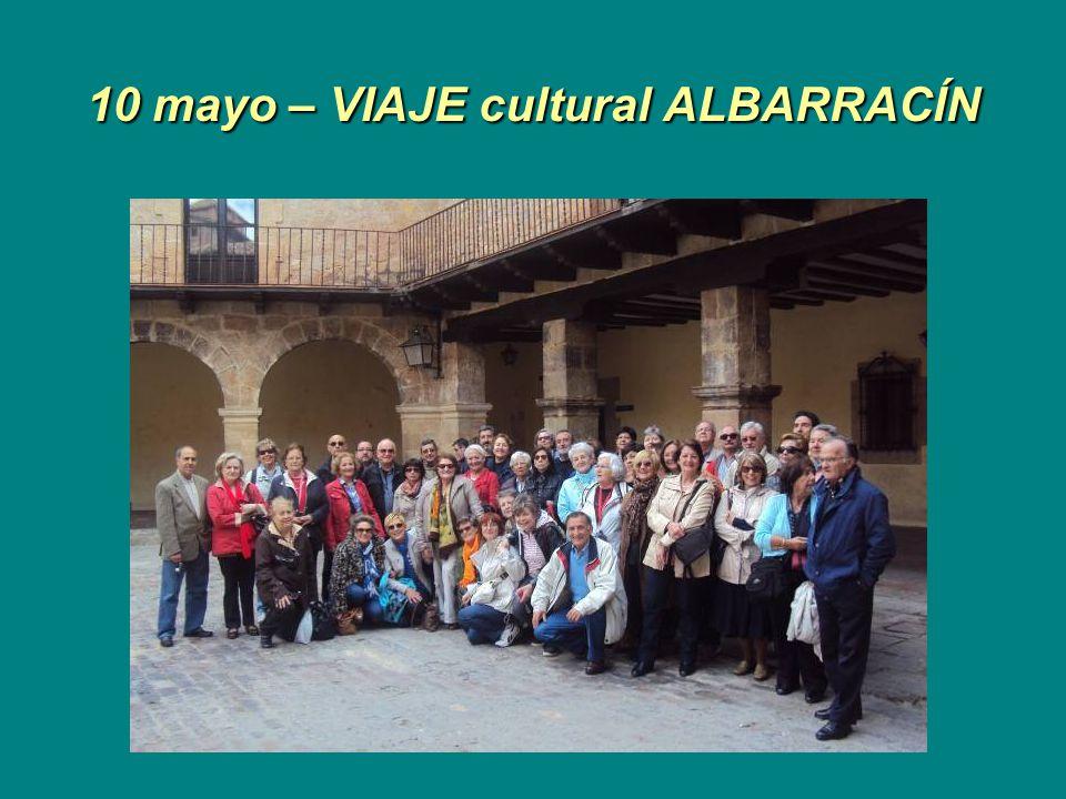 10 mayo – VIAJE cultural ALBARRACÍN