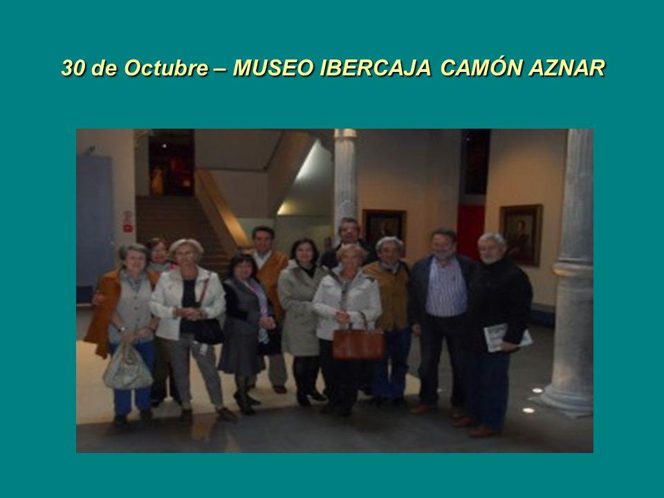 30 de Octubre – MUSEO IBERCAJA CAMÓN AZNAR