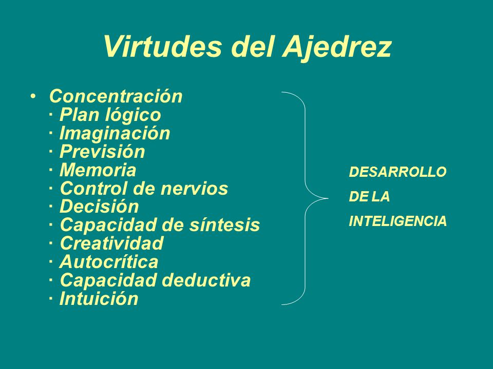 Virtudes del Ajedrez