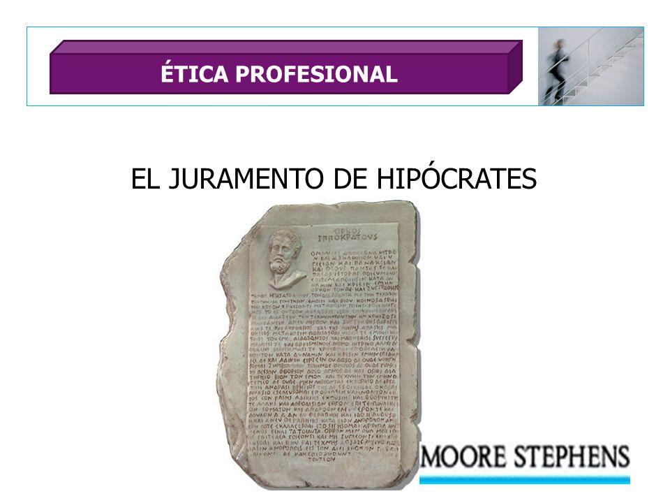EL JURAMENTO DE HIPÓCRATES