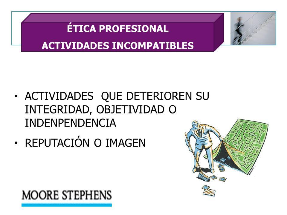ACTIVIDADES INCOMPATIBLES