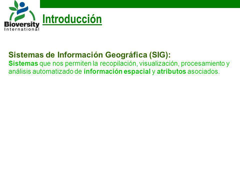 Introducción Sistemas de Información Geográfica (SIG):