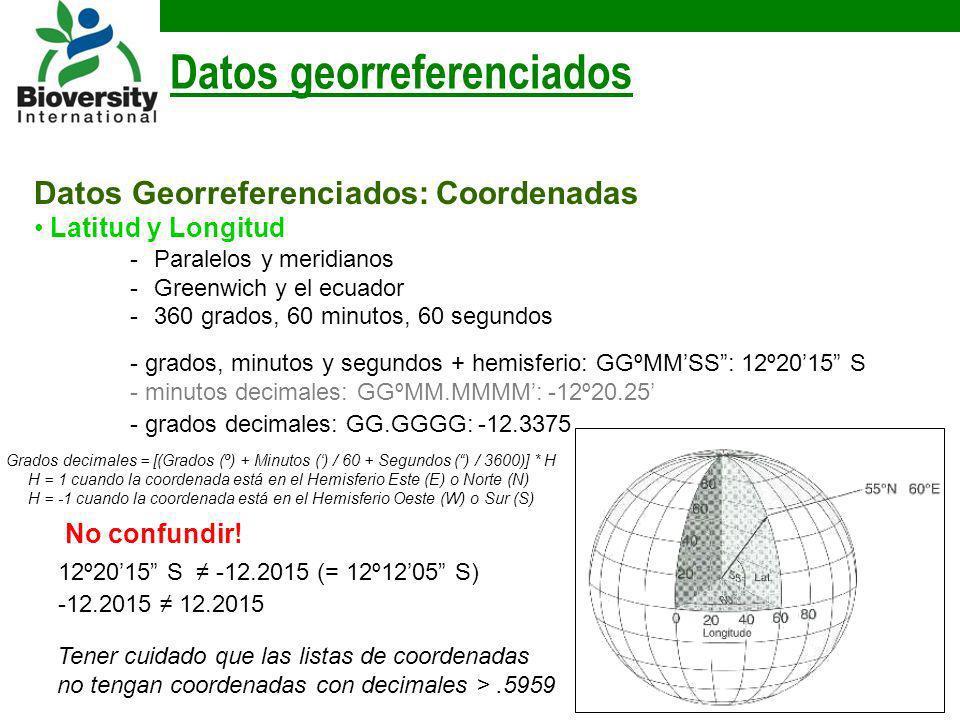 Datos georreferenciados