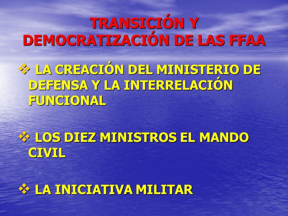 TRANSICIÓN Y DEMOCRATIZACIÓN DE LAS FFAA