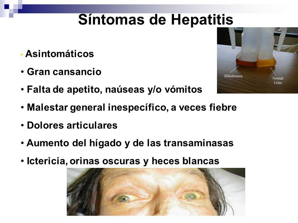 Síntomas de Hepatitis Gran cansancio