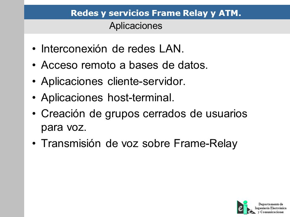 Interconexión de redes LAN. Acceso remoto a bases de datos.