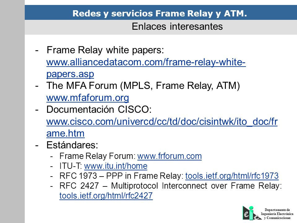 - Frame Relay white papers: