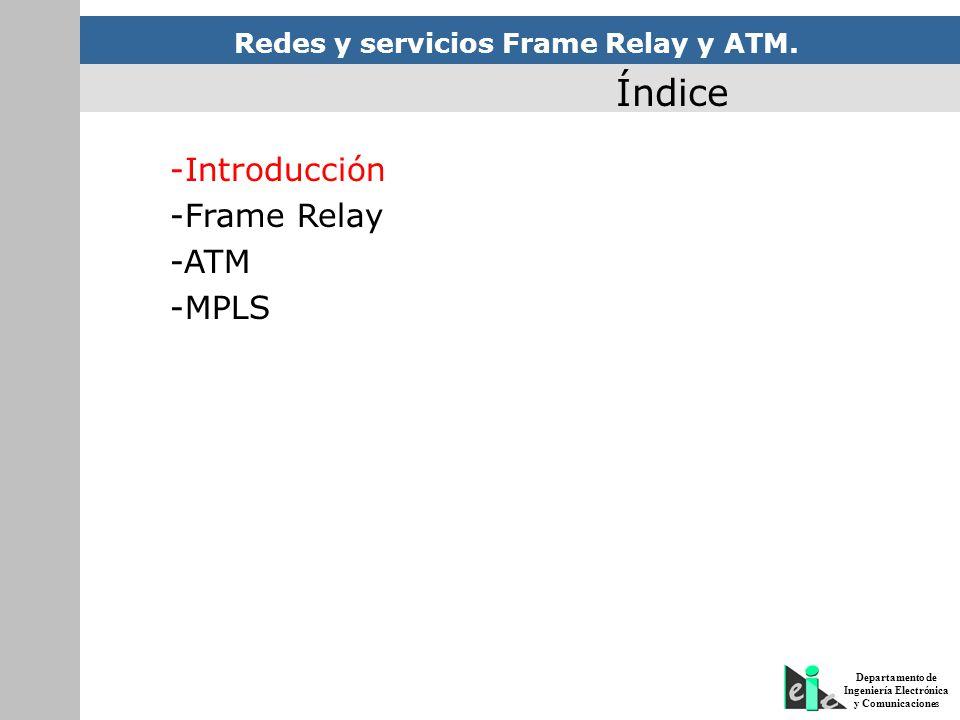 Índice -Introducción -Frame Relay -ATM -MPLS