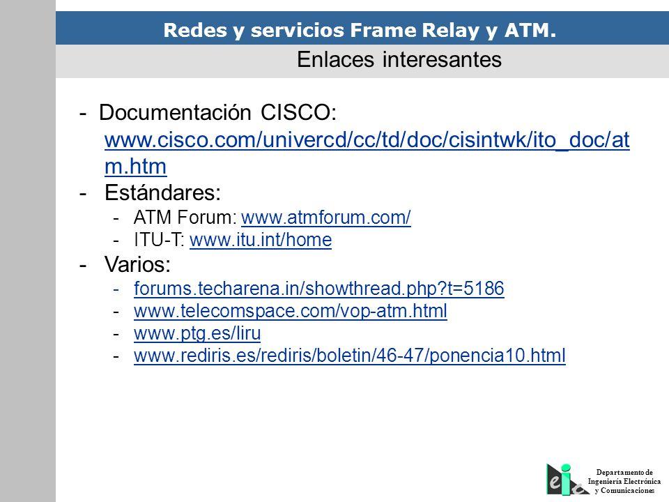 - Documentación CISCO: