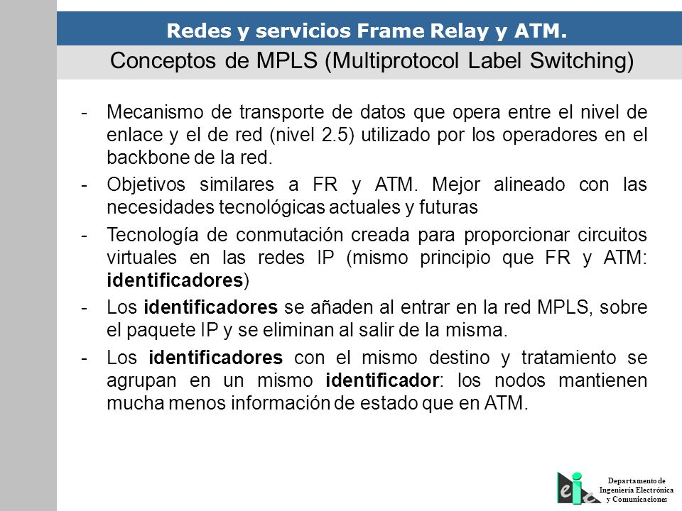 Conceptos de MPLS (Multiprotocol Label Switching)