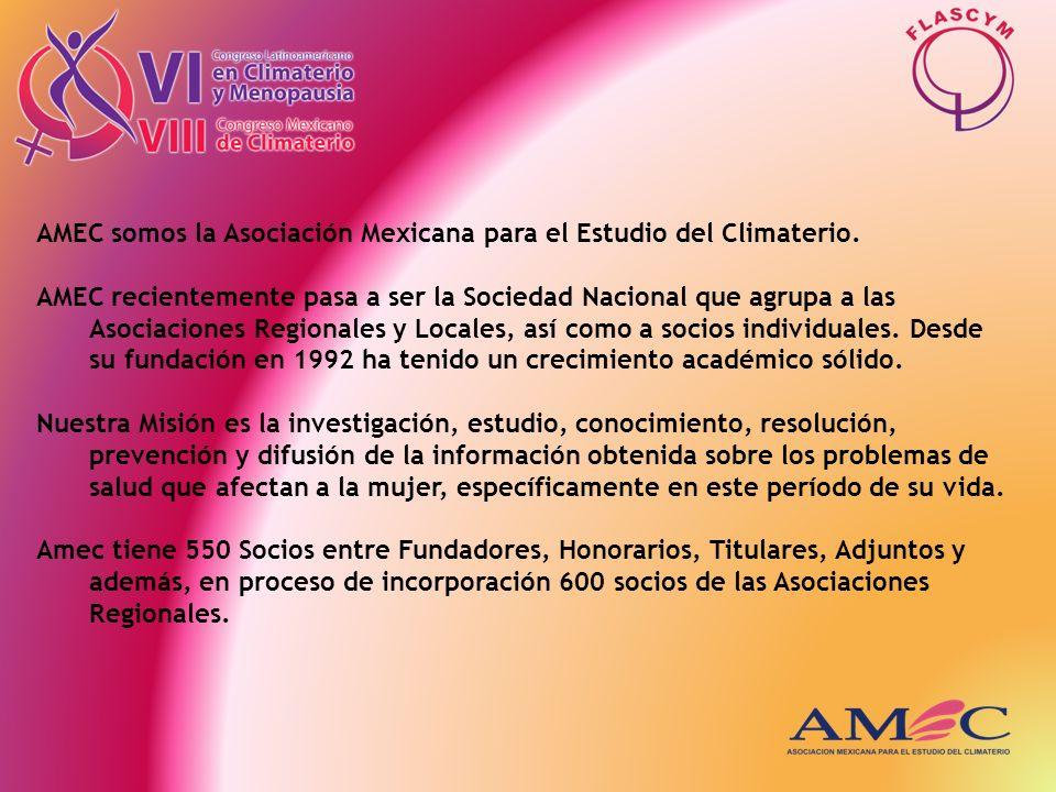 AMEC somos la Asociación Mexicana para el Estudio del Climaterio.