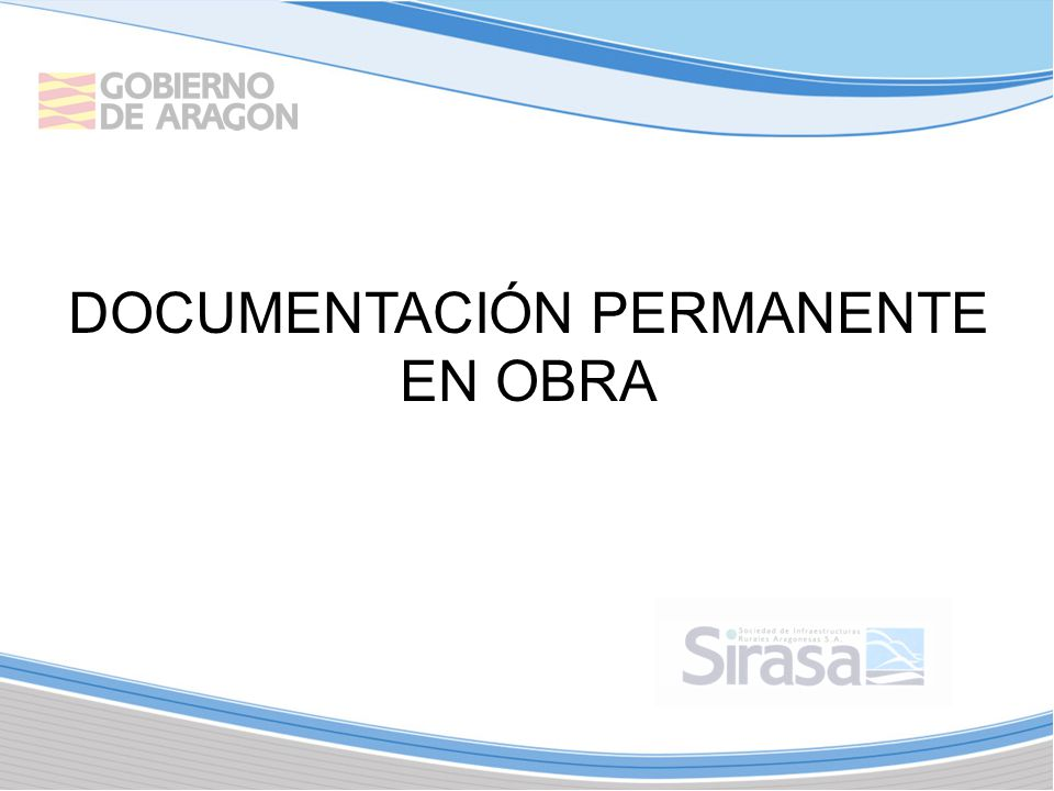 DOCUMENTACIÓN PERMANENTE EN OBRA
