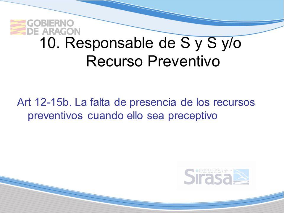 10. Responsable de S y S y/o Recurso Preventivo