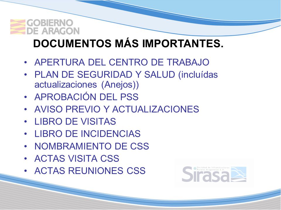 DOCUMENTOS MÁS IMPORTANTES.
