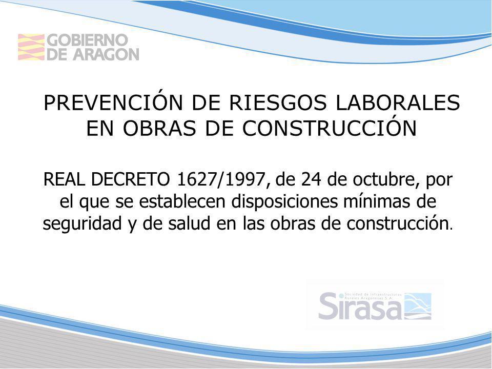 PREVENCIÓN DE RIESGOS LABORALES EN OBRAS DE CONSTRUCCIÓN