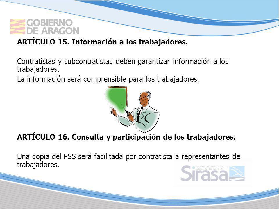 ARTÍCULO 15. Información a los trabajadores.