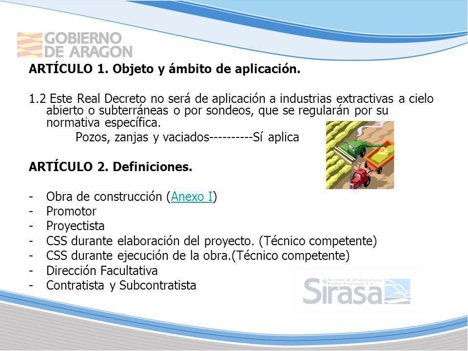 ARTÍCULO 1. Objeto y ámbito de aplicación.