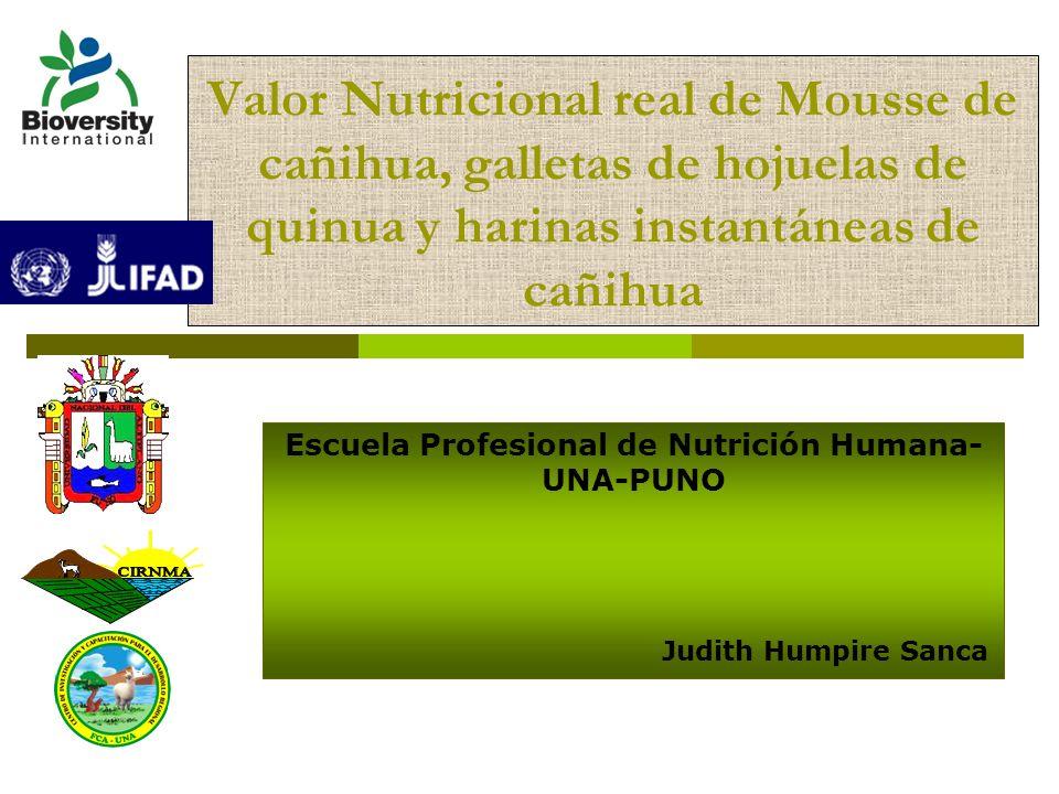Escuela Profesional de Nutrición Humana- UNA-PUNO Judith Humpire Sanca