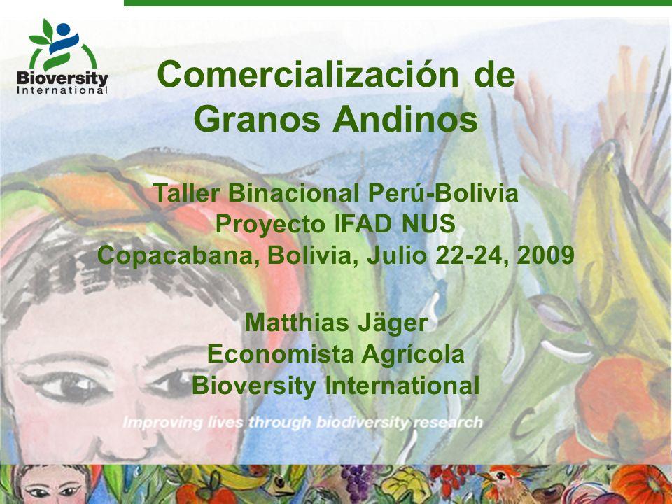 Comercialización de Granos Andinos
