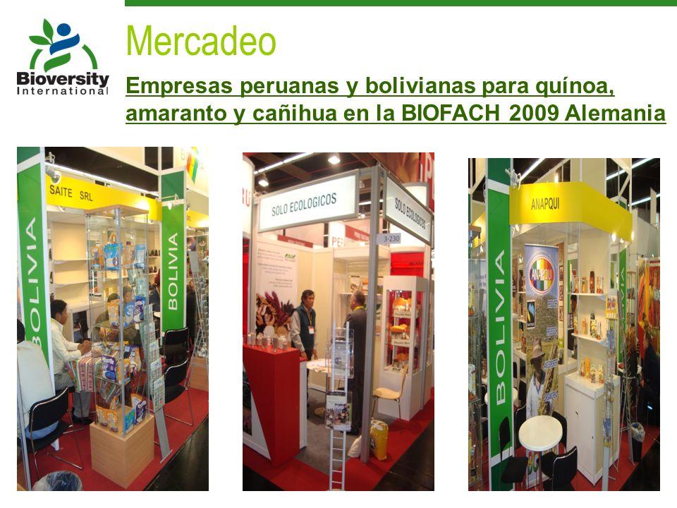 Mercadeo Empresas peruanas y bolivianas para quínoa, amaranto y cañihua en la BIOFACH 2009 Alemania