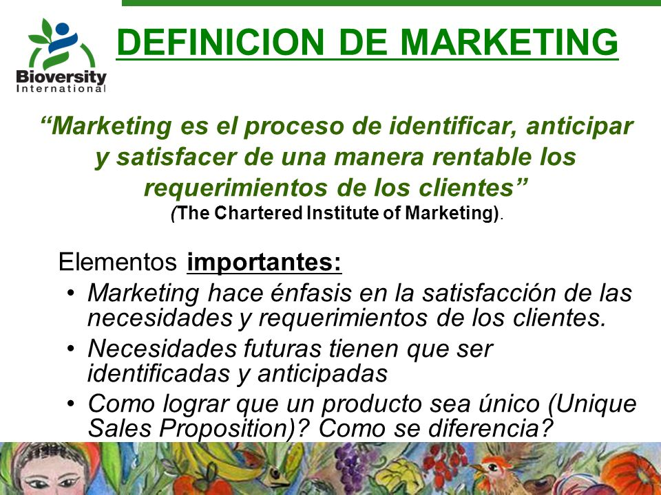 DEFINICION DE MARKETING