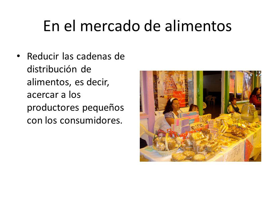 En el mercado de alimentos
