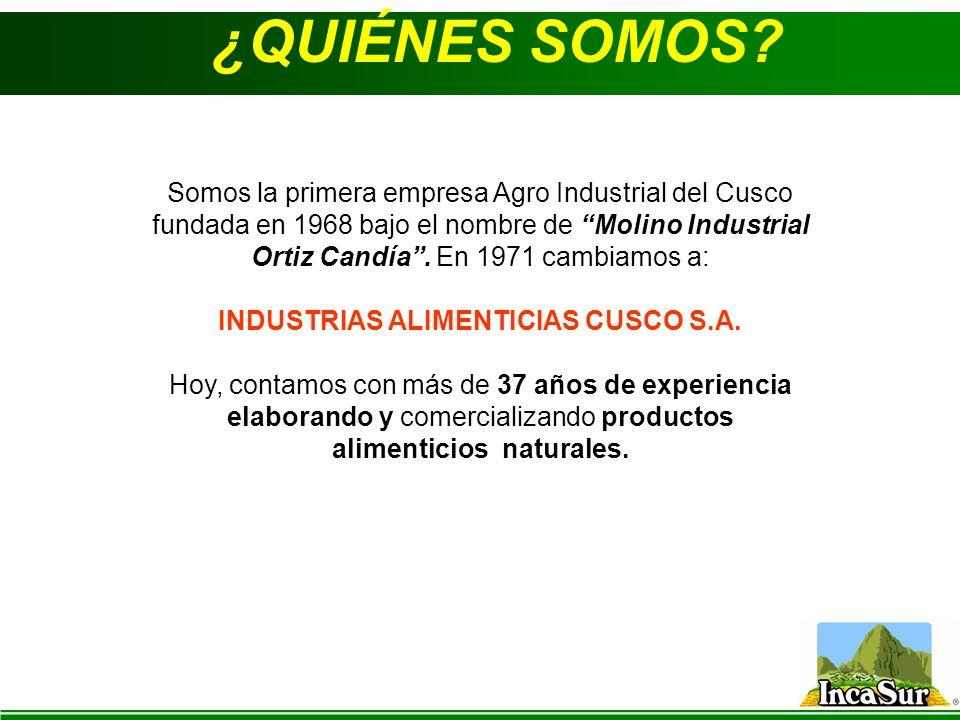 INDUSTRIAS ALIMENTICIAS CUSCO S.A.