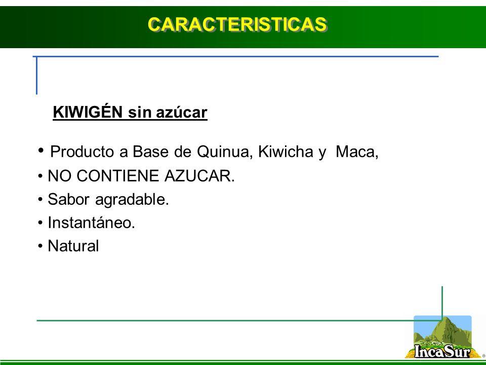 Producto a Base de Quinua, Kiwicha y Maca,