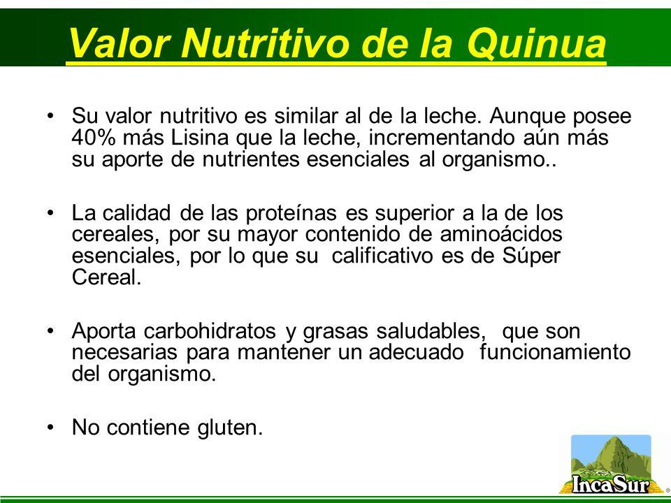 Valor Nutritivo de la Quinua