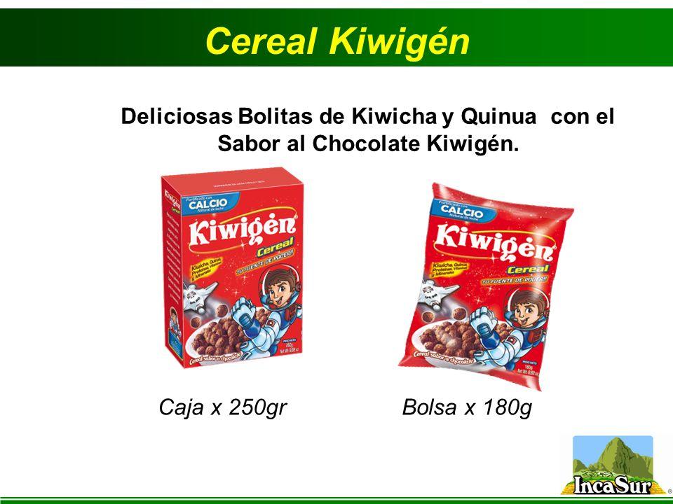 Cereal Kiwigén Deliciosas Bolitas de Kiwicha y Quinua con el Sabor al Chocolate Kiwigén. Caja x 250gr.