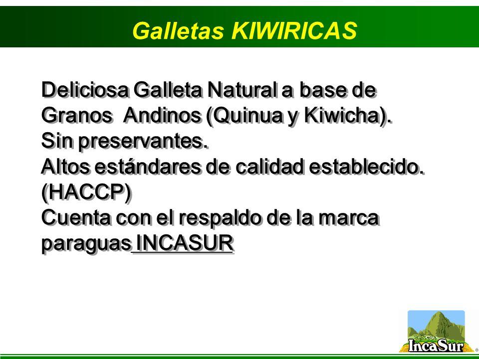 Galletas KIWIRICAS Deliciosa Galleta Natural a base de Granos Andinos (Quinua y Kiwicha). Sin preservantes.