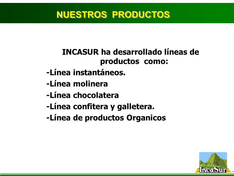 INCASUR ha desarrollado líneas de productos como: