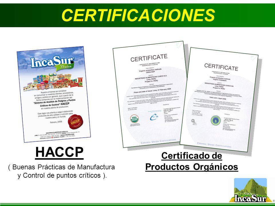Certificado de Productos Orgánicos
