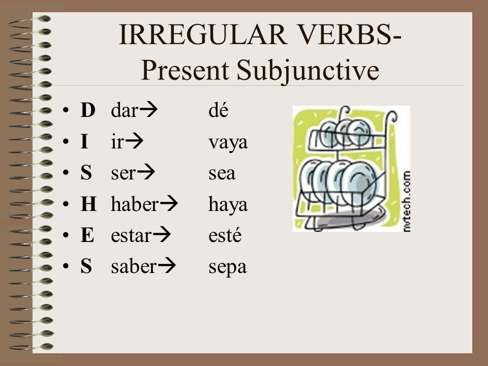 IRREGULAR VERBS- Present Subjunctive