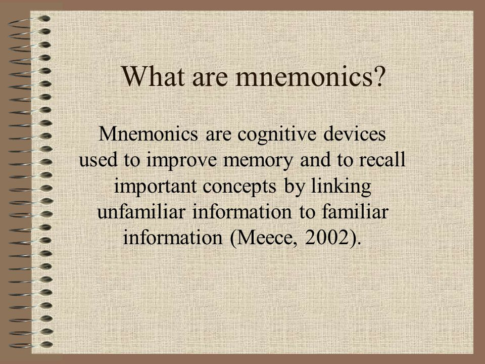 What are mnemonics