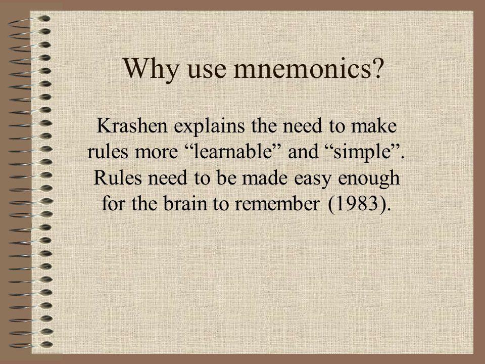 Why use mnemonics