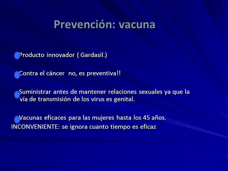 Prevención: vacuna