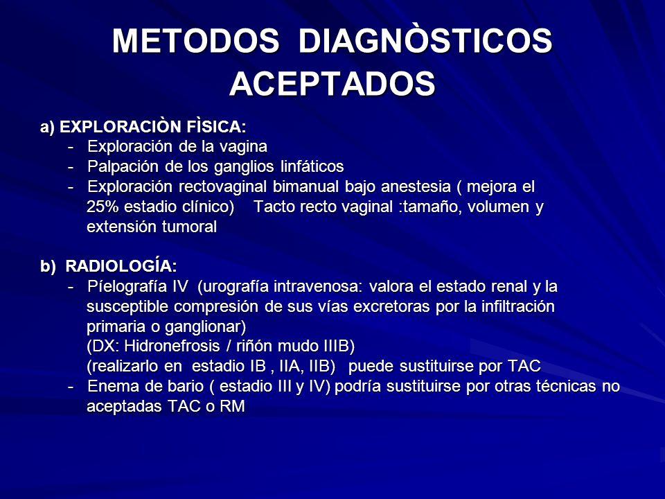 METODOS DIAGNÒSTICOS ACEPTADOS